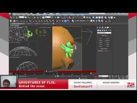 #24. Flig vs Black gang: Animations in 3ds max #twitch #indie #indiedev #gamedev #aoflig #fligadventures #adventuresofflig #flig