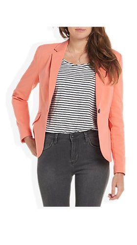 Basic Blazer Koraal - Costes Fashion
