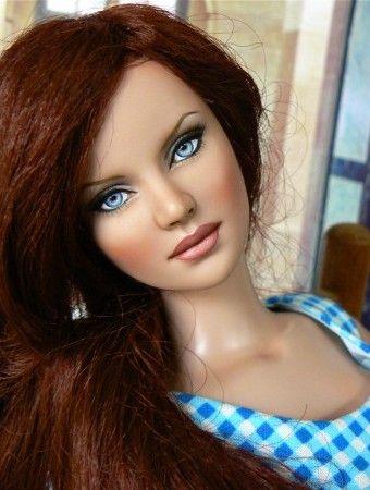 About Eva by Debra: Eva, a repainted, wigged Ashleigh by Debra, American Jezebel