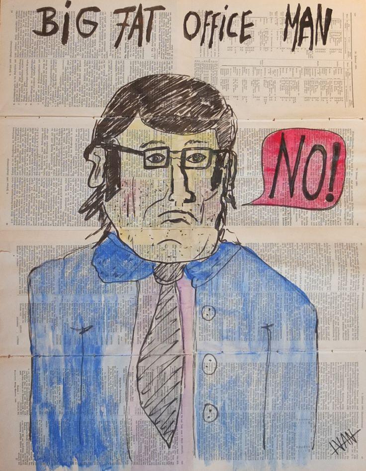 """""""Big Fat Office Man"""" Art Brut / Outsider Art from german artist Ivan Summersky (www.ivansummersky.com)"""
