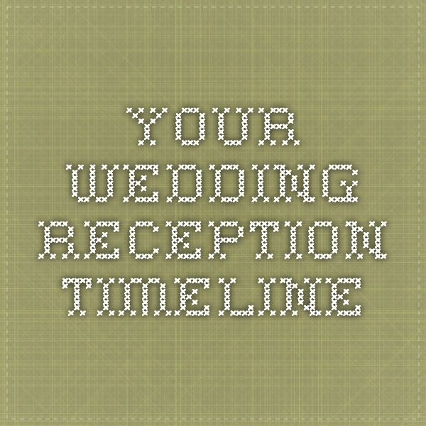 3 Basic Wedding Reception Timelines To Follow