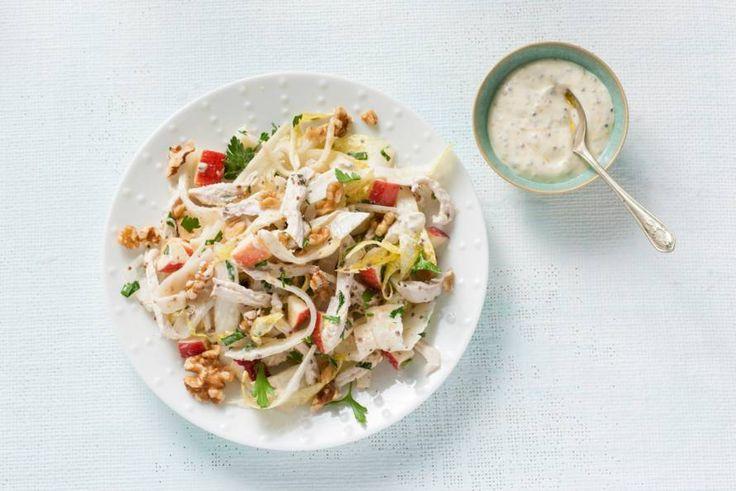 Deze waldorfsalade met kip is een volwaardige maaltijd. Lekker licht! - Recept - Allerhande