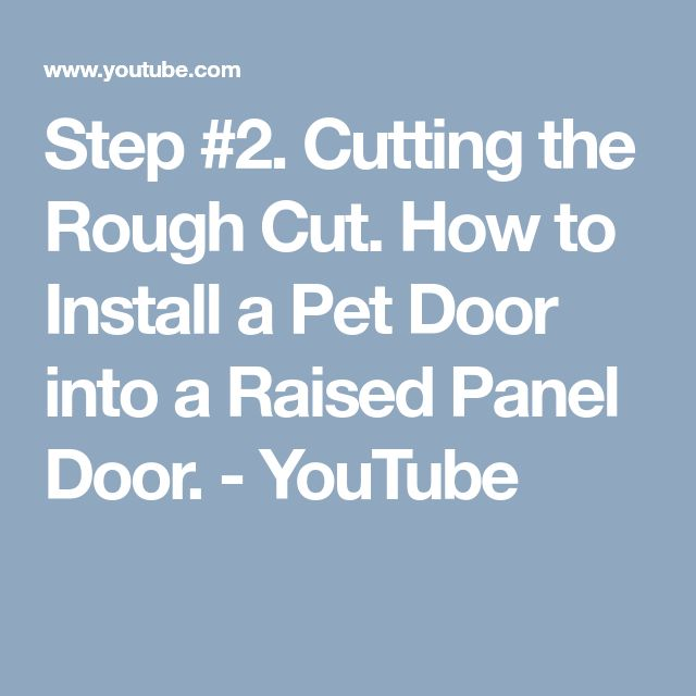Best 25 2 panel doors ideas on pinterest 2 panel - Interior door with pet door installed ...