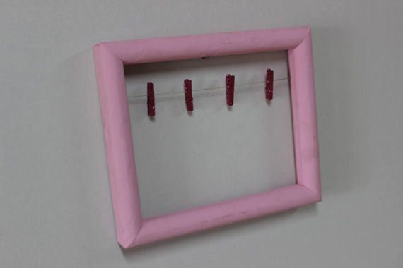 Shabby Chic Picture Frame Clothespin Picture Frame Shabby