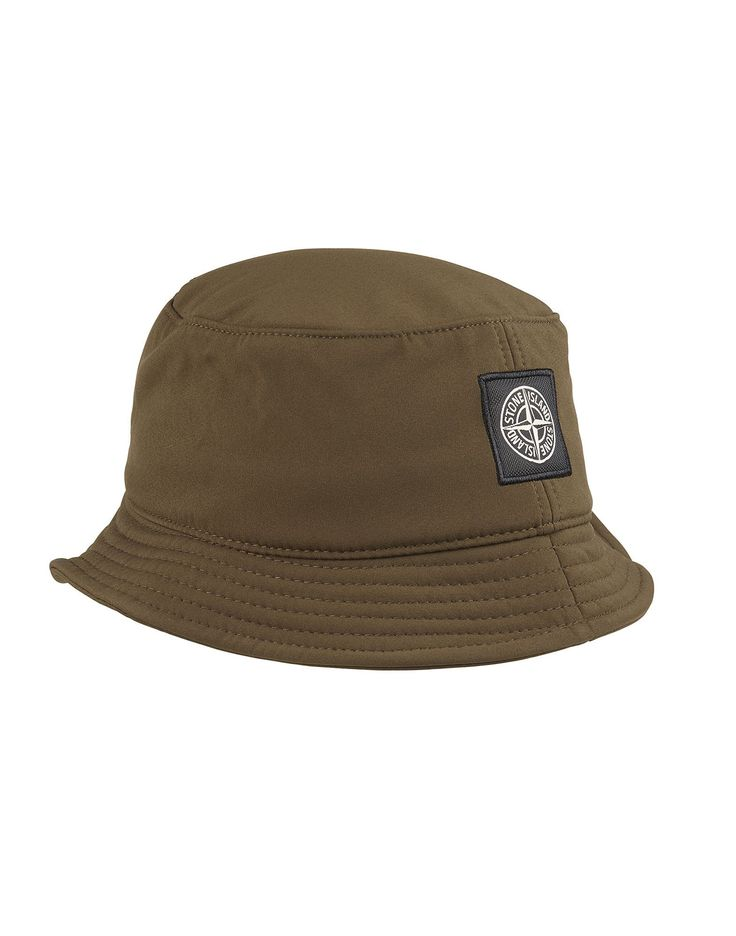 Stone Island SOFT SHELL-R Bucket Hat in Khaki