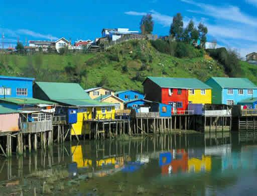 Lower Gamboa, Castro, Chiloe, Chile. I love that I have been inside every palafito in this photo!