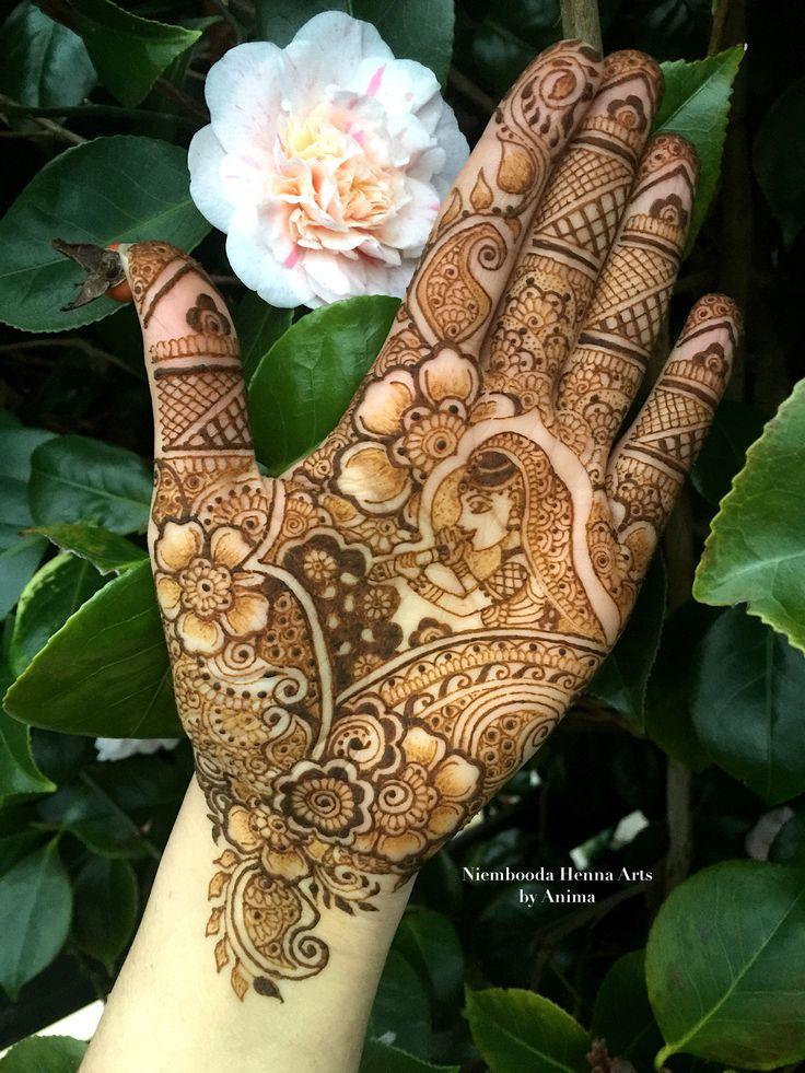 Beautiful detailed mehndi by Niembooda Henna Arts