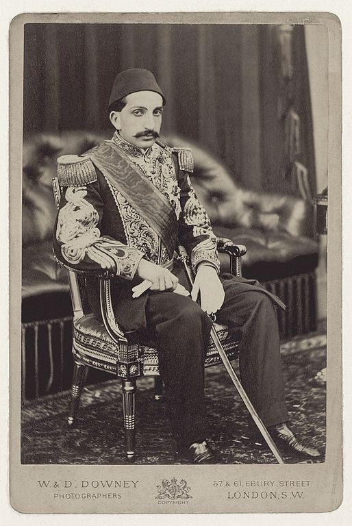 Shahzade Abdulhamid II (1842-1918), probably on Balmoral Castle (GB) in 1867.