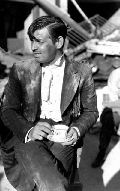 "Clark Gable on set of""San Francisco"",1930s | old hollywood"