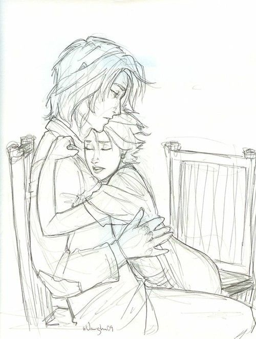 Lupin and Tonks. Burdge's artwork