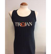 WAS £26.99 Trojan Womens Classic Logo Vest TR/8246 Black