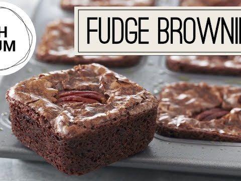 Fudge Bruintjies  Brownies  met gesoute geroosterde pekan neute