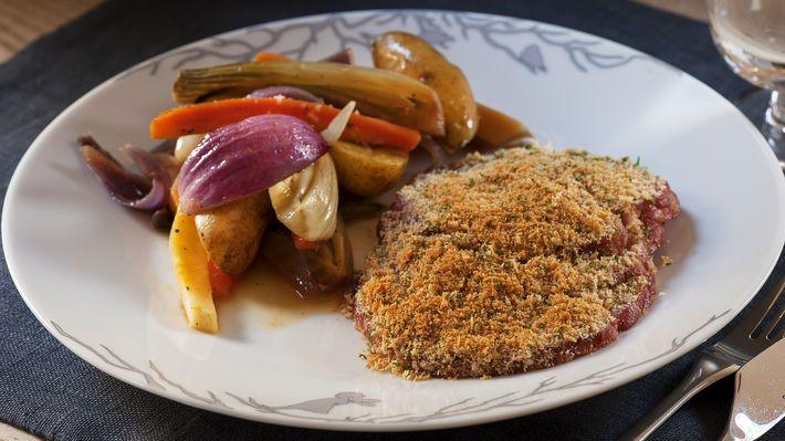 Juleskinke med ovnsbakte rotgrønnsaker - MatPrat