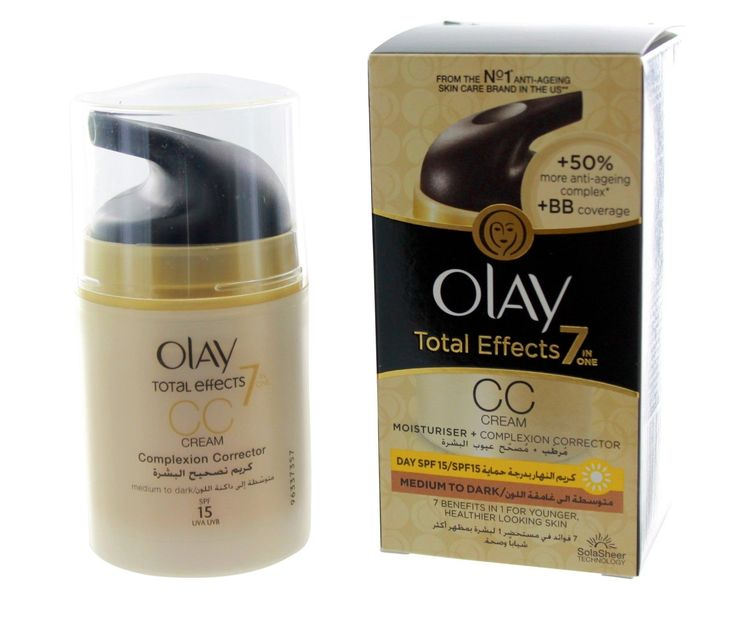 Olay Total Effects 7 In 1 Anti Aging Moisturizer CC Day Cream with SPF 15 1.7oz