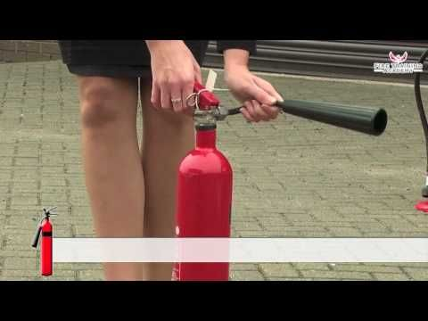 This is a clip on how to use a C02 fire extinguisher. It gives the basics on how to properly handle and work it