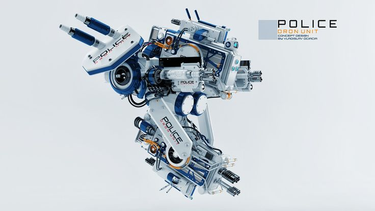 Police drone unit on Behance