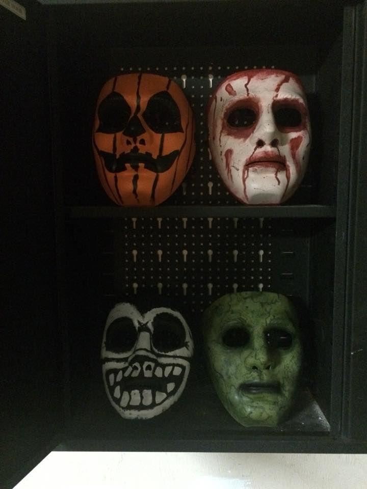 Plain White Masks Painted With Creepy Faces Creepy Faces Mask