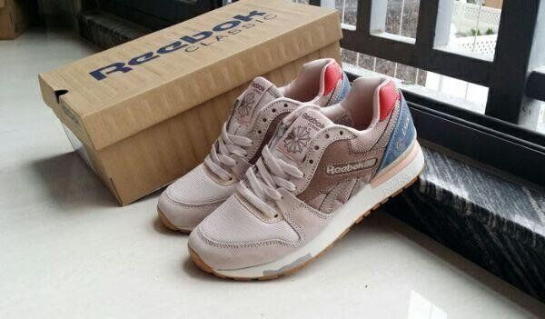 cde3eaa7e23 Reebok Classic GL 6000 Fleur Womens Retro Trainers   Sneaker Shoes in Taupe  available here for £49.99 Photo Credit  webmoda