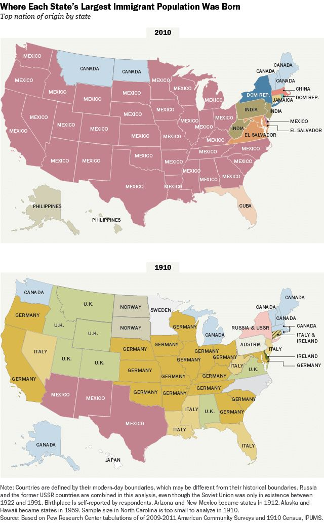 How Immigration Has Changed In e Single Map random