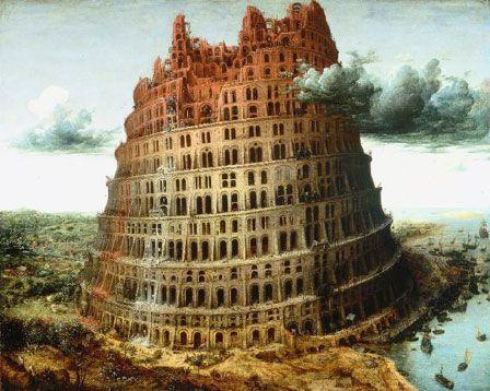 La ziggourat de Babylone, vue par le peintre flamand Pieter Brueghel l'Ancien