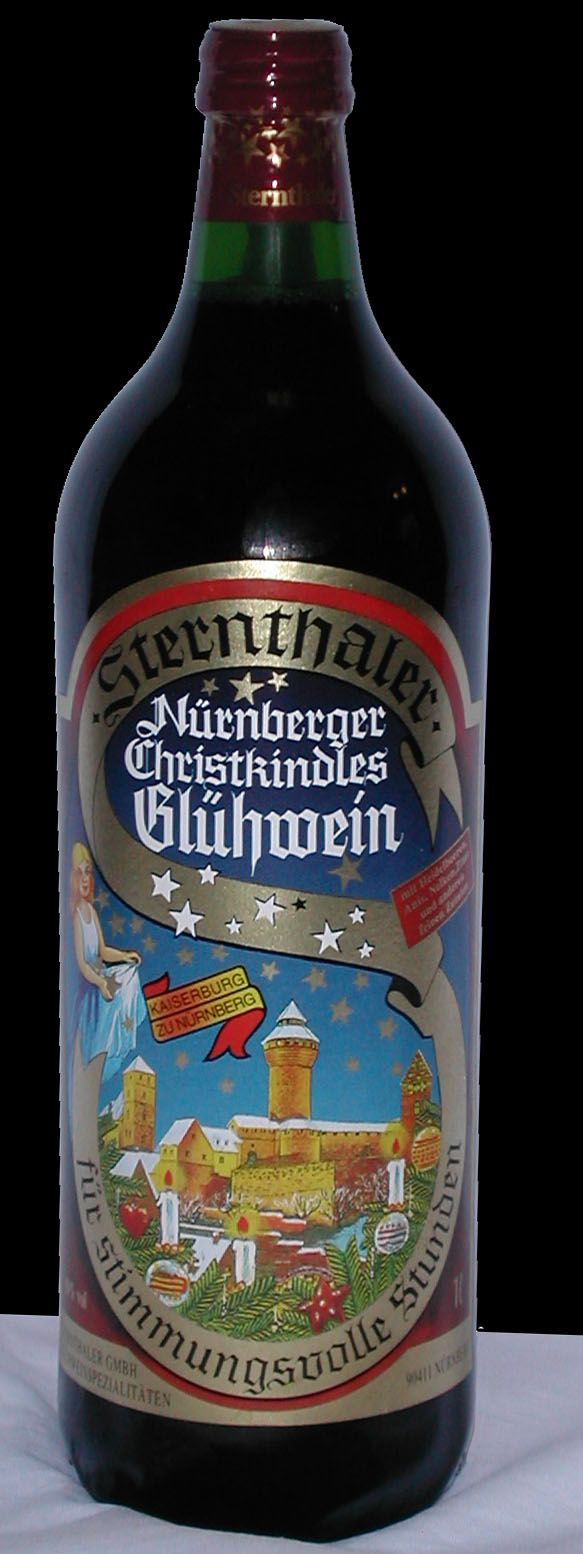 German Christmas mulled wine. They serve this wine, hot, at the Christmas market.