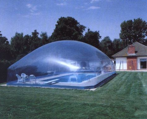 affordable glass enlclosure around pools | Air Dome Swimming Pool Enclosures