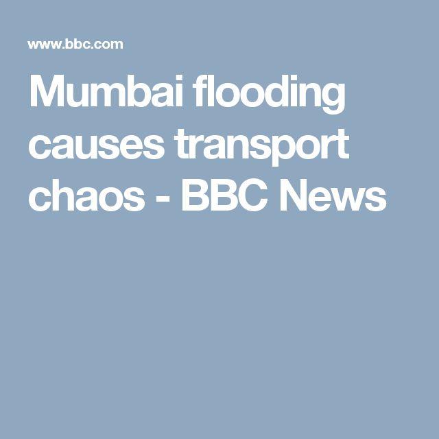 Mumbai flooding causes transport chaos - BBC News
