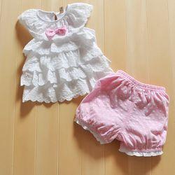 Online Shop New Summer 2014 Cotton Bowknot New Born Baby Girl Dress Set 2 PCSFlower Princess Infant Girls Costume Free Shipping|Aliexpress Mobile