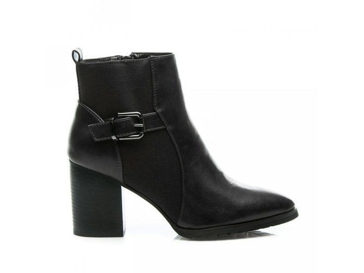 Čierne členkové topánky Melánia