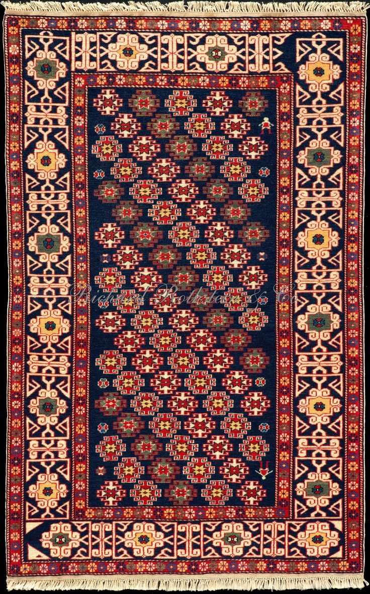 caucasian kuba rug a chichi rug with kufic border size 3 39 4 x 5 39 2 lionel chichi rugs kuba. Black Bedroom Furniture Sets. Home Design Ideas