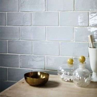 Biscay | Fired Earth Tiles for Shower, but in blue