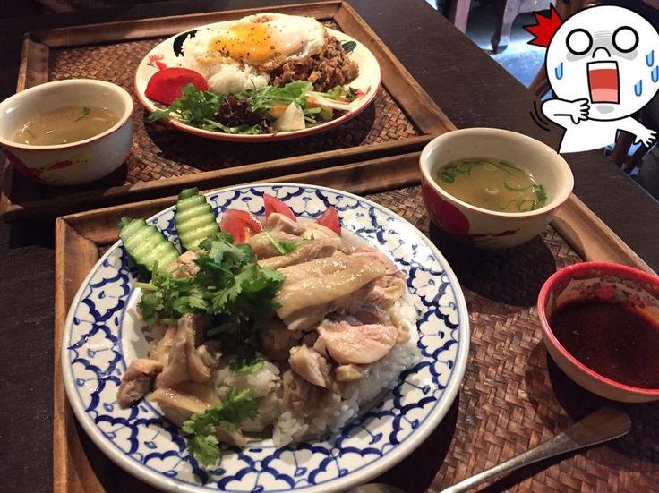 ハンバーグ2つ食べ終え向かった2軒目ハシゴはすぐ近くの花雷でガパオ&カオマンガイww二人共よー食べるわ カオマンガイのライスは味無しバージョンだったのでガパオが個人的には美味しかったな鶏出汁スープで炊いた香り高いジャスミンライスが食べたいなぁ あー腹パンよぉフードファイターかって #カオマンガイ#ガパオライス#大阪#新町#外食#昼ご飯#がつ飯#ランチハシゴ#パクチー嫌い#タイ料理#カフェ#cafe#カフェごはん#大食い by korin.yaa