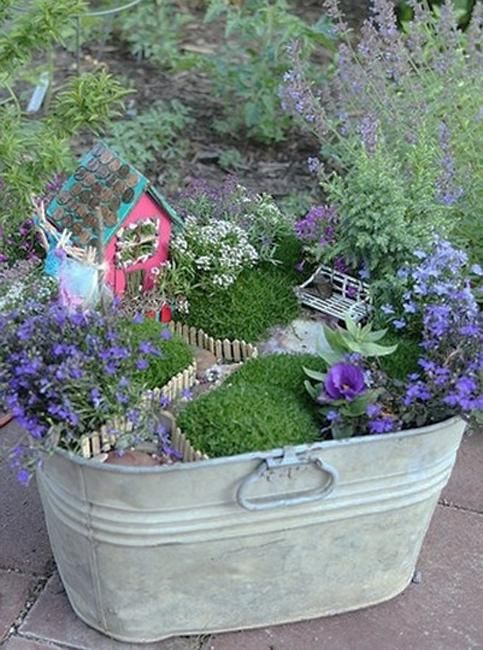 miniature garden designs and fairy gardens