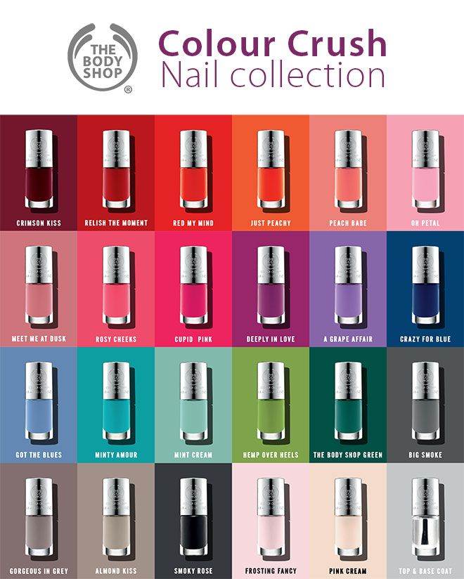 The Body Shop - Colour Crush Nail collection  English Article http://makigiaz.com/blog/the-body-shop-colour-crush-nail-collection-en/  Greek Article http://makigiaz.com/blog/the-body-shop-colour-crush-nail-collection/