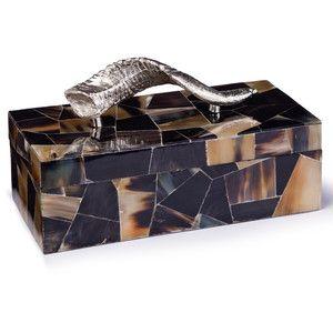 Sadar Global Bazaar Silver Horn Veneered Decorative Box