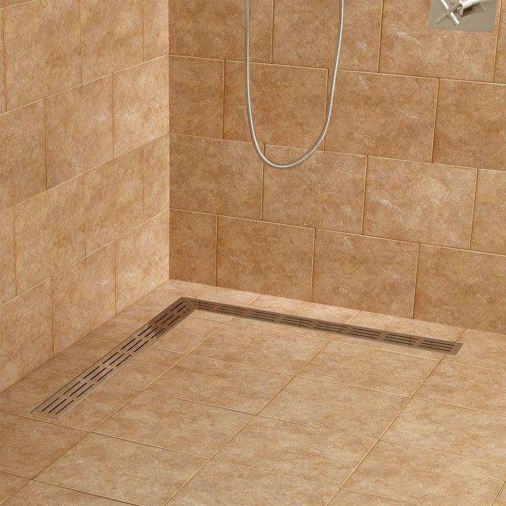 Loup L-Shaped Linear Shower Drain - Bathroom