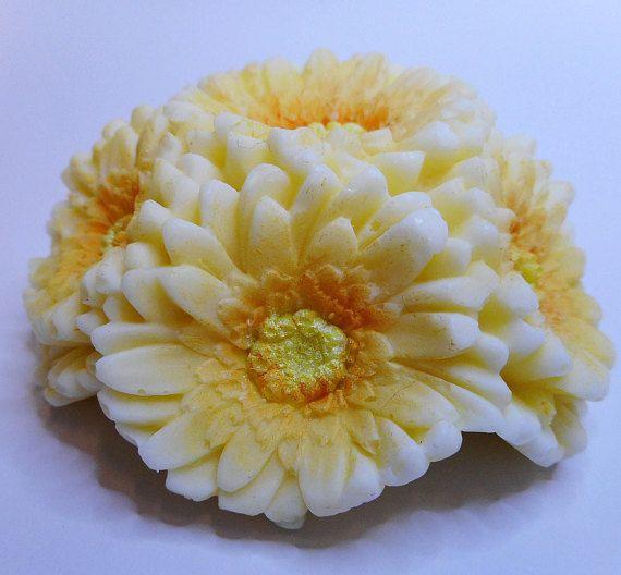 Gerbera Posy Soap  Flower soap Yellow posy soap Soap posy