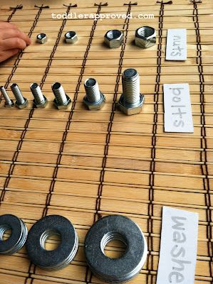 sizing and sorting nuts and bolts