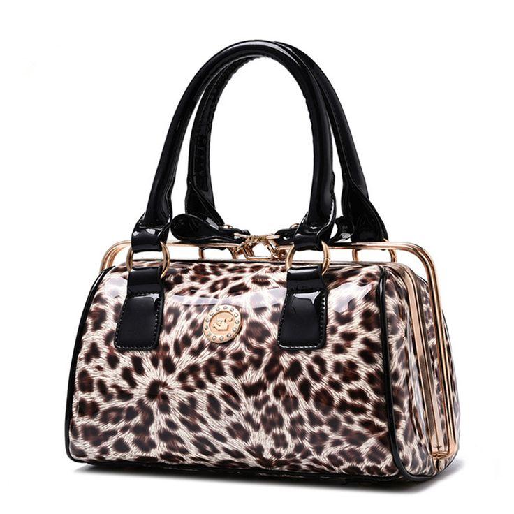 Купить Новая женщина кожаные сумки 2016 пакета(ов) сумки леопарда способа люксового бренда…