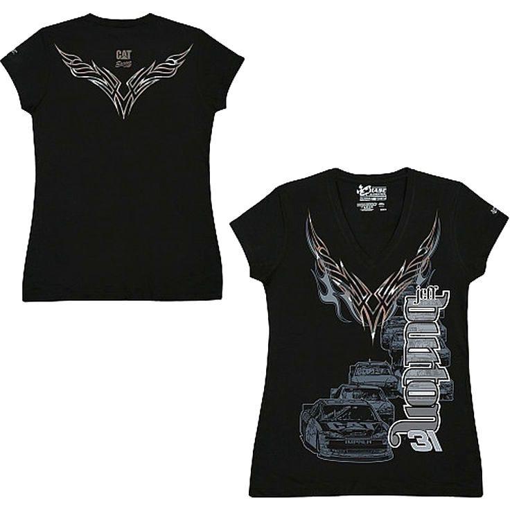 Chase Authentics Jeff Burton Women's Foil T-Shirt - $7.59