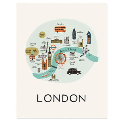 Rifle Paper Co Print - London | Pony Lane
