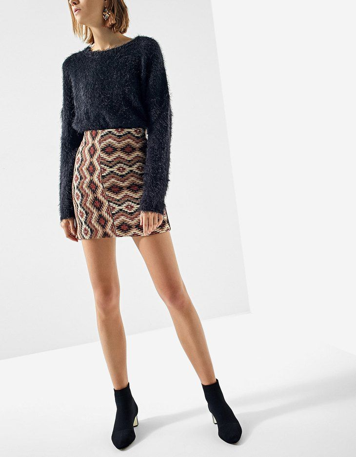At Stradivarius you'll find 1 Printed jacquard skirt for just 3618 Japan . Visit now to discover this and more Skirts.