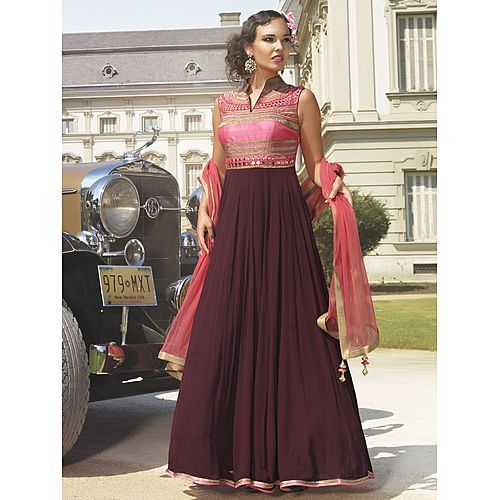 Laxmipathi Special Designer Exclusive New Designer Violet Pink Gown