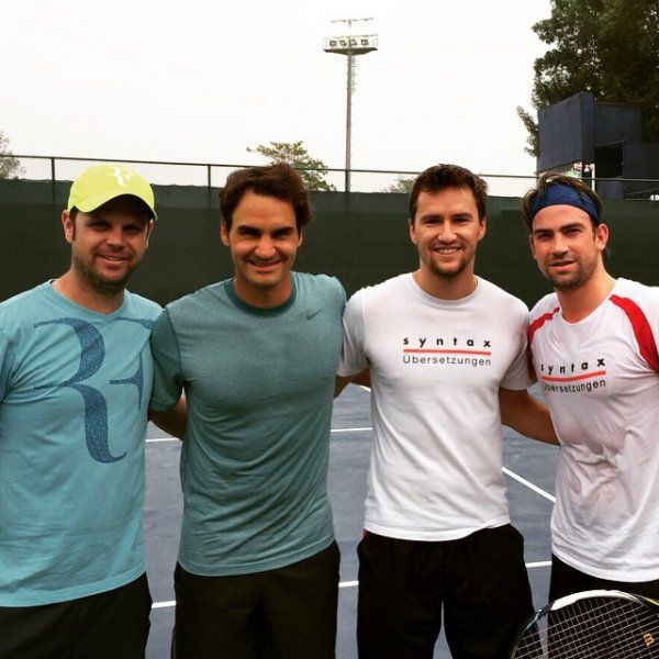 Roger Federer has been working hard in practicing along with his team on outdoor hard courts in Dubai, where he is very positive to clinch seventh ATP 2015 Dubai Duty Free Tennis Championships, an ATP 500 event on the 2015 ATP World Tour. 17-time singles Grand slam champion has posted a picture on his Facebook wall that the boys reunited.