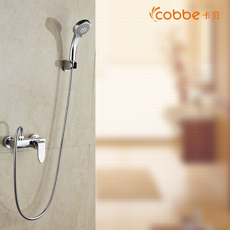 Classic Chrome Shower Sets For The Bathroom Zinc Alloy Handle Waterfall Bath Shower Faucet Brass Bathroom Taps Cobbe SW-8866