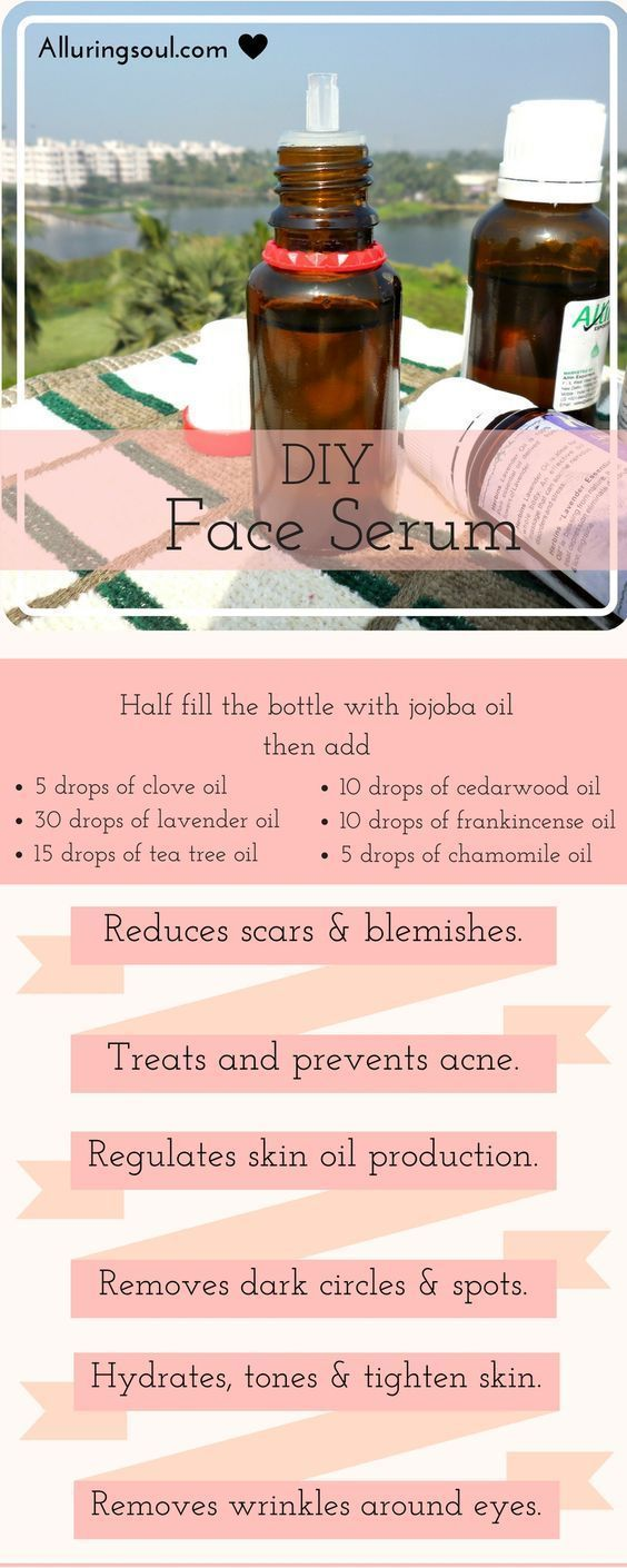DIY Face Serum For Acne, Scars & Dark Spots – #acn…