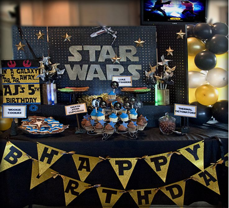 star wars party table idea - Star Wars Party Decorations