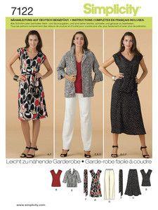 Simplicity: Simplicity - Kleider - Kombination Kleid - Rock - Blazer