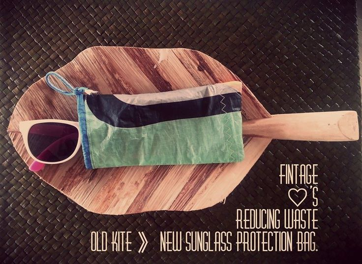 Protect you shades! Made out of Old Kites. Upcycle,