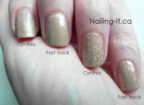 Julep's Cynthia vs China Glaze's Fast Track - Nail Swatch